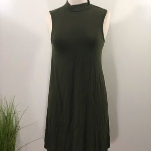 Dresses & Skirts - High neck forest green dress